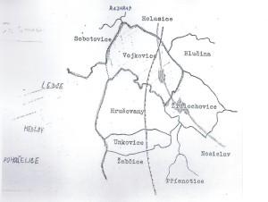 Židlochovice, Vojkovice - mapa 1